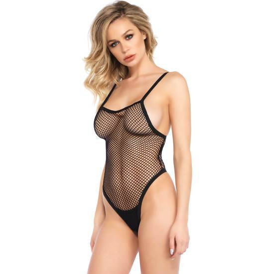 LEG AVENUE BODY DE RED NEGRO - Lenceria Sexy Femenina Bodys - Sex Shop ARTICULOS EROTICOS