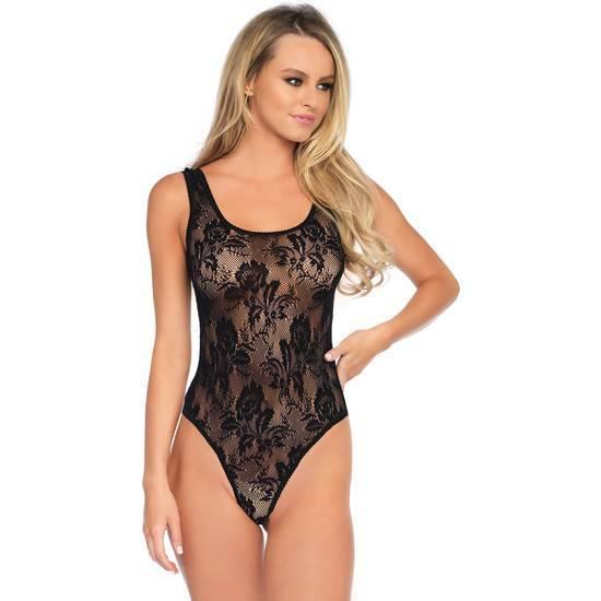 LEG AVENUE BODY FLORAL CON LAZADA - Lenceria Sexy Femenina Bodys - Sex Shop ARTICULOS EROTICOS