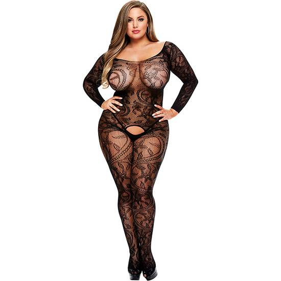 LONGSLEEVE CROTCHLESS BODYSTOCKING - Lenceria Sexy Femenina Bodys - Sex Shop ARTICULOS EROTICOS