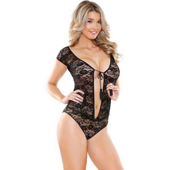 ROMP BEAUTIFULLY BODY DE ENCAJE - Lenceria Sexy Femenina Bodys - Sex Shop ARTICULOS EROTICOS