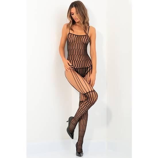 STRING ME UP BODY DE MALLA - NEGRO - Lenceria Sexy Femenina Bodys - Sex Shop ARTICULOS EROTICOS