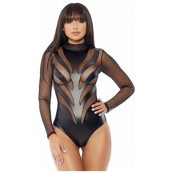 VULGAR BODY NEGRO - Lenceria Sexy Femenina Bodys - Sex Shop ARTICULOS EROTICOS