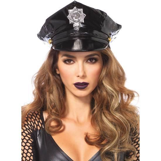 LEG AVENUE GORRA VINILO DE POLICIA - Juegos Eróticos Accesorios Gorros - Sex Shop ARTICULOS EROTICOS