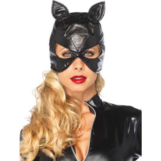 LEG AVENUE MASCARA DE GATA DE PIEL CON OREJITAS - juegos Eroticos-Accesorios Fiestas Mascaras-SexShop ARTICULOS EROTICOS