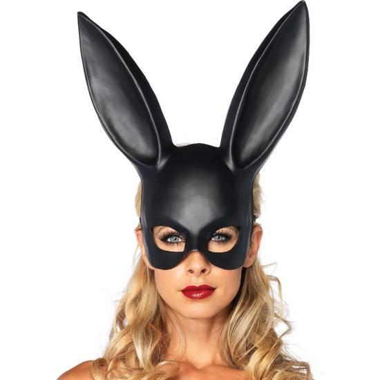 LEG AVENUE MASCARA GRANDE OREJITAS DE CONEJO NEGRA - juegos Eroticos-Accesorios Fiestas Mascaras-SexShop ARTICULOS EROTICOS