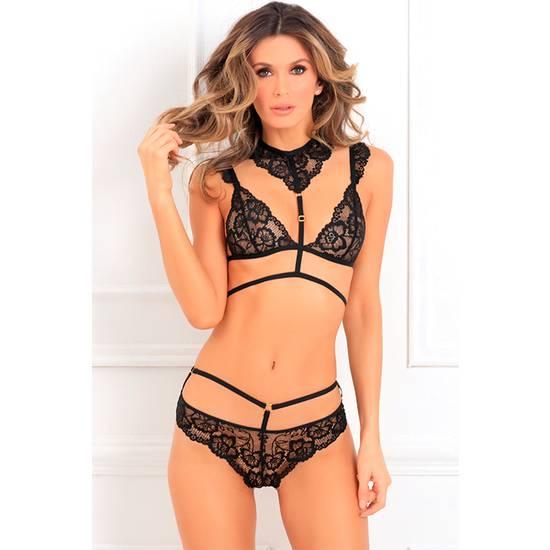 2PC THATS RICH CHOKER BRA SET - Lenceria Sexy Femenina Conjuntos - Sex Shop ARTICULOS EROTICOS