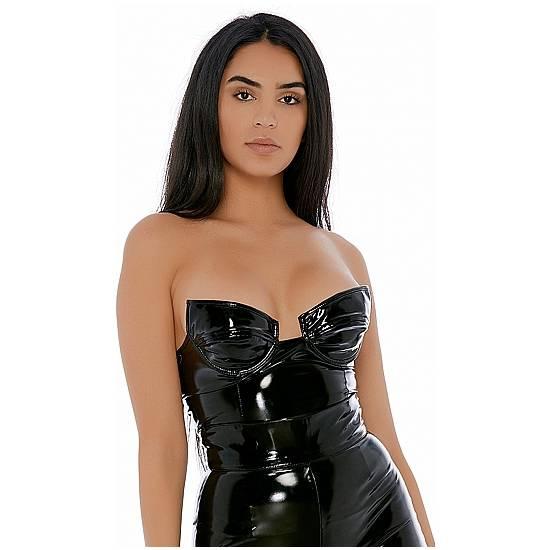 SLEEK SUPPORT NEGRO - Lenceria Sexy Femenina Corse - Sex Shop ARTICULOS EROTICOS