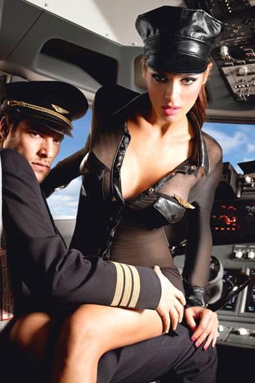 BACI DISFRAZ DE PILOTO DE AEROLINEAS BACI PLUS - Disfraces Eróticos - Sex Shop ARTICULOS EROTICOS