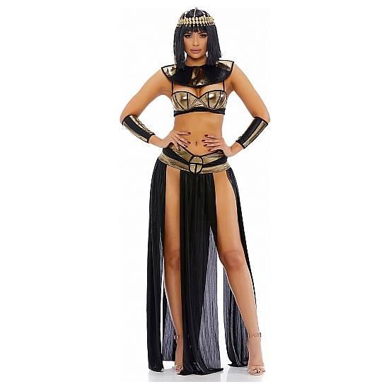 DISFRAZ DE CLEOPATRA FARAONA - NEGRO/DORADO - Disfraces Eróticos Disfraz - Sex Shop ARTICULOS EROTICOS