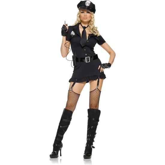 LEG AVENUE DISFRAZ FEMENINO POLICIA SEXY - Disfraces Eróticos - Sex Shop ARTICULOS EROTICOS