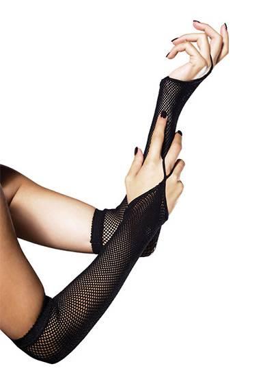 LEG AVENUE CALENTADORES DE BRAZOS DE RED - Talla U | LENCERIA GUANTES | Sex Shop