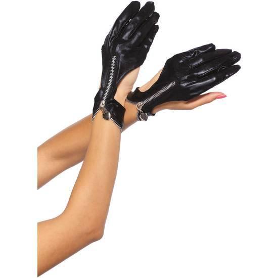 LEG AVENUE GUANTES DE MOTO CON CREMALLERA - Talla U | LENCERIA GUANTES | Sex Shop