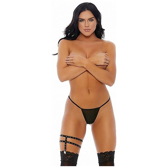 HEY STUD LIGA CON TACHUELAS PLATEADA - Lenceria Sexy Femenina BDSM - Sex Shop ARTICULOS EROTICOS