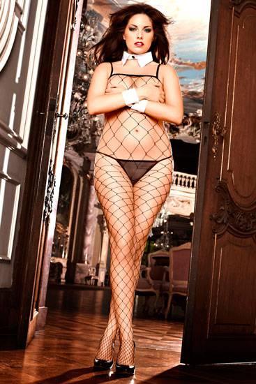 BACI BODY DE RED NEGRO PLUS - Talla UP | LENCERIA MALLAS | Sex Shop