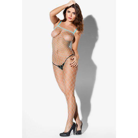 KISS ME SPIDER KITTY MALLA AZUL - Talla L/XL | LENCERIA MALLAS | Sex Shop