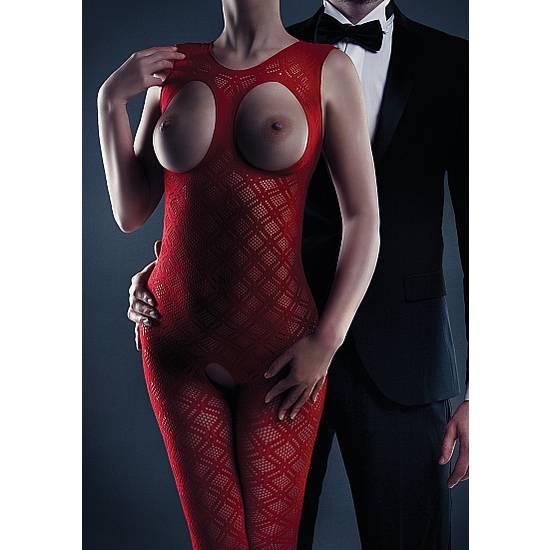 LE DESIR MALLA MAISIE ROJO - Lenceria Sexy Femenina Bodys - Sex Shop ARTICULOS EROTICOS