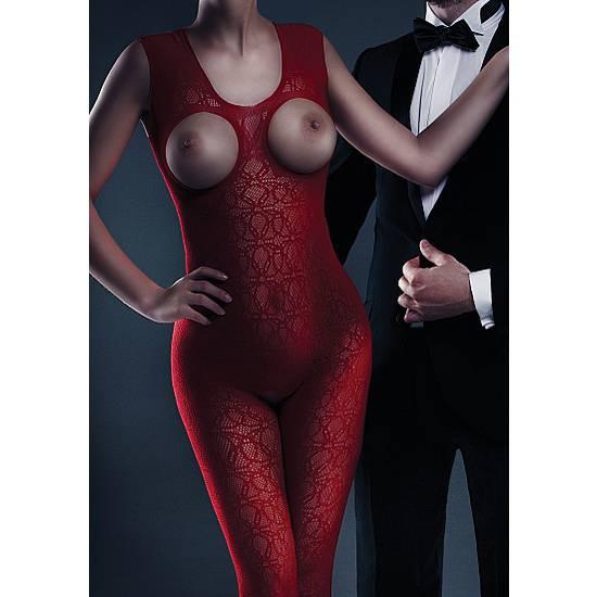 LE DESIR MALLA ZARAH ROJO - Lenceria Sexy Femenina Bodys - Sex Shop ARTICULOS EROTICOS