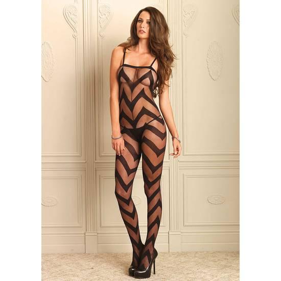 LEG AVENUE BODY CON ZIG ZAG - Talla U | LENCERIA MALLAS | Sex Shop