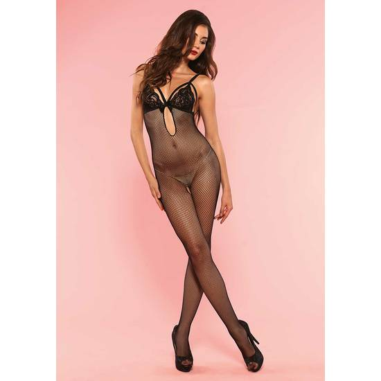 LEG AVENUE BODY MULTIRED CON SUJETADOR DE ENCAJE - Talla U | LENCERIA MALLAS | Sex Shop