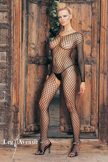 LEG AVENUE MALLA DE RED TIPO CROCHET - Talla U | LENCERIA MALLAS | Sex Shop