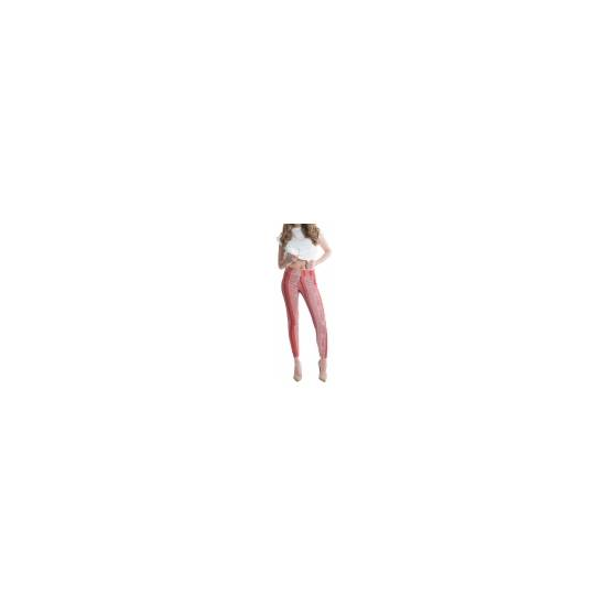 LEGGINS SHAPING DE CORTE ELÁSTICO - MARSALA - Talla S | LENCERIA MALLAS | Sex Shop