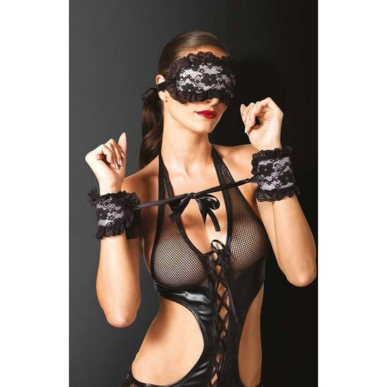 CONJUNTO BONDAJE 2 PIEZAS FLORAL - BDSM Bondage Kit - Sex Shop ARTICULOS EROTICOS