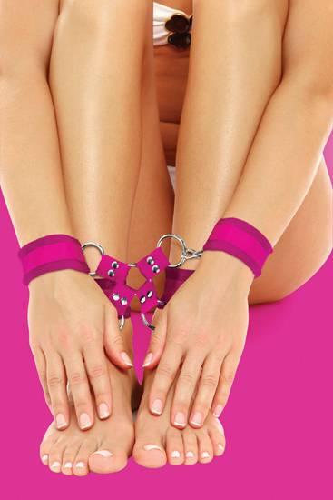 OUCH ESPOSAS DE VELCRO PARA PIES Y MANOS ROSA   LENCERIA MASCARAS Y ESPOSAS   Sex Shop