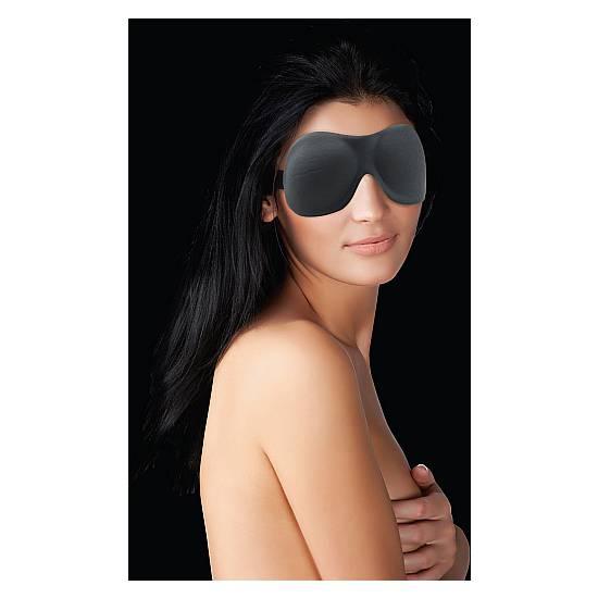 OUCH MASCARA CURVY NEGRO - Máscaras BDSM Bondage - Sex Shop ARTICULOS EROTICOS