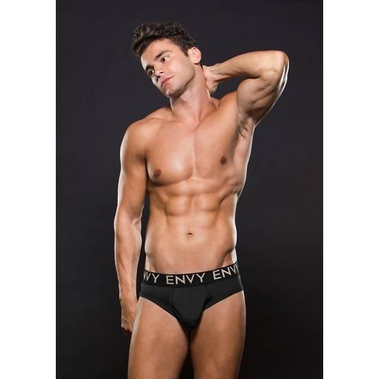 ENVY SLIP ELASTICO NEGRO - lenceria Sexy Masculina Slip - Sex Shop ARTICULOS EROTICOS