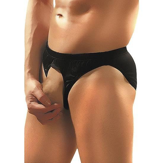 MALE POWER SLIP NEGRO ABERTURA - lenceria Sexy Masculina BDSM - Sex Shop ARTICULOS EROTICOS