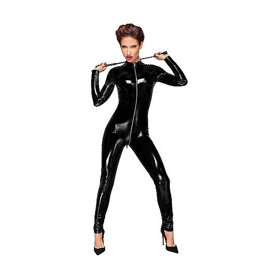 MONO MANGA LARGA PVC - NEGRO - Mujer Sexy Vestidos - Sex Shop ARTICULOS EROTICOS