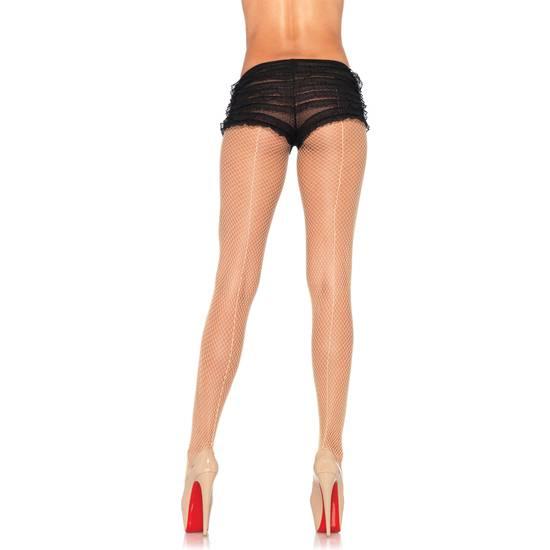 LEG AVENUE MEDIAS REJILLA CON COSTURA TRASERA NUDE - Lenceria Sexy Femenina Braguitas y Tangas -Sex Shop ARTICULOS EROTICOS