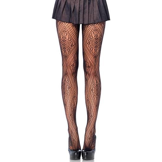 LEG AVENUE PANTIES DE ENCAJE FLORENTINO NEGRO - Lenceria Sexy Femenina Pantys - Sex Shop ARTICULOS EROTICOS