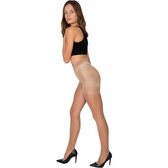 PANTY LICRA 40 DEN REDUCTOR PUSH UP LOTE DE 2 COLOR BEIGE - Lenceria Sexy Femenina Pantys - Sex Shop ARTICULOS EROTICOS