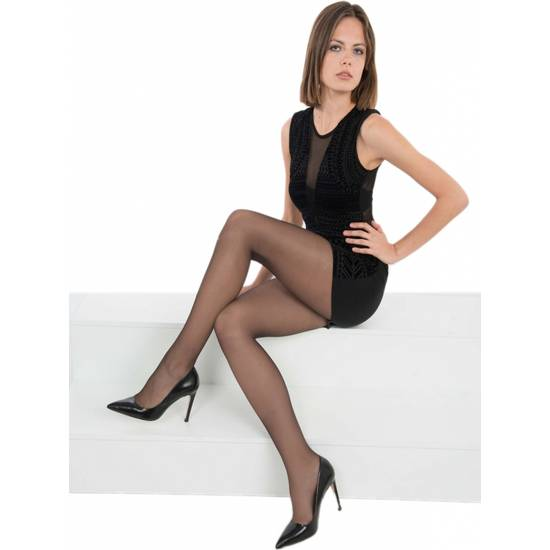 PANTY LICRA CON ROMBO 17 DEN LOTE DE 2 COLOR NEGRO - Lenceria Sexy Femenina Pantys - Sex Shop ARTICULOS EROTICOS