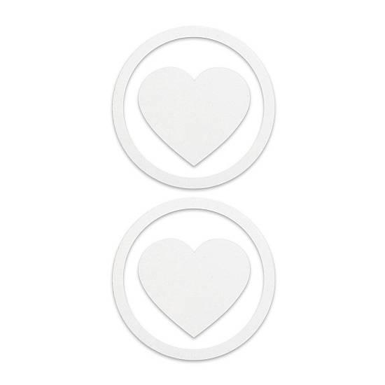 ADHESIVOS PARA PEZONES CORAZON BLANCO | LENCERIA PEZONERAS | Sex Shop