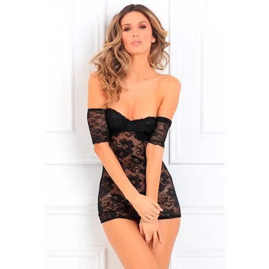 SEDUCTIVELY STUNNING PICARDIAS NEGRO - Lenceria Sexy Femenina Picardias - Sex Shop ARTICULOS EROTICOS