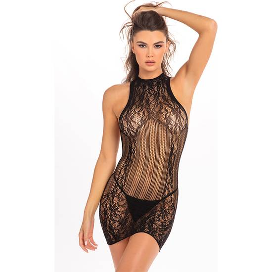 RECKLESS LACE MINI DRESS BLACK - Lenceria Sexy Femenina Picardias - Sex Shop ARTICULOS EROTICOS