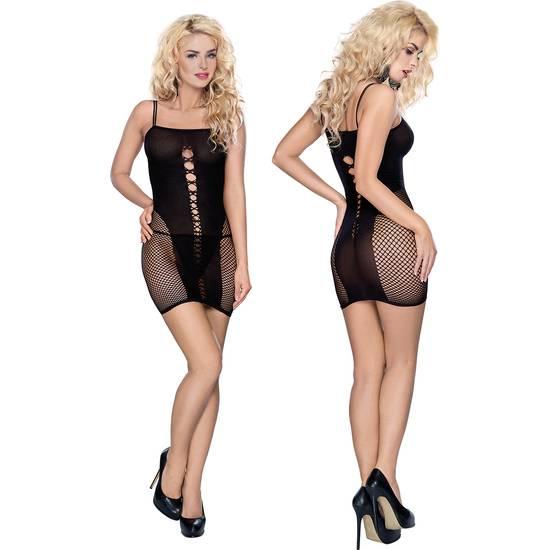 ROXANA VESTIDO CON ABERTURAS NEGRO - Mujer Sexy Vestidos - Sex Shop ARTICULOS EROTICOS