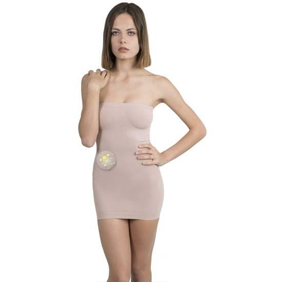 VESTIDO COSMÉTICO-TEXTIL COLOR BEIGE - Mujer Sexy Vestidos - Sex Shop ARTICULOS EROTICOS