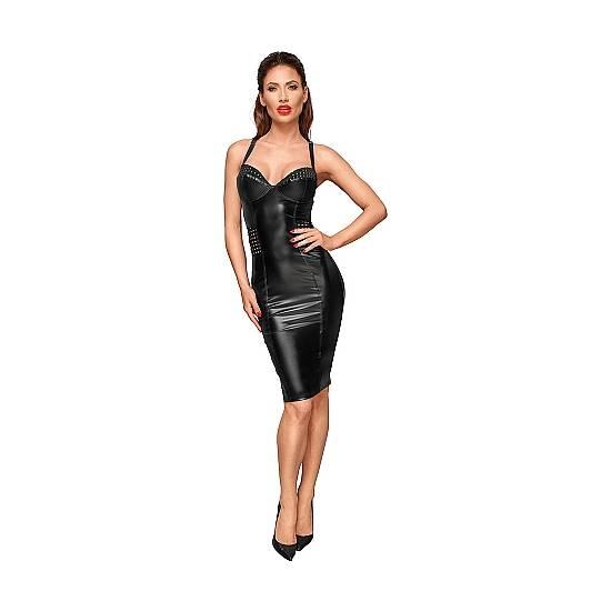 VESTIDO ESCOTE CORAZÓN EFECTO MOJADO - NEGRO - Mujer Sexy Vestidos - Sex Shop ARTICULOS EROTICOS