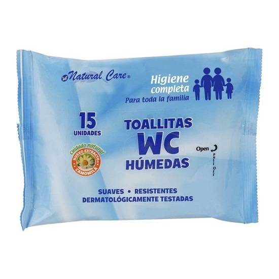 TOALLITAS WC 15 UDS NATURAL CARE - Cuidado Íntimo Toallitas - Sex Shop ARTICULOS EROTICOS