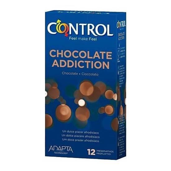 PRESERVATIVOS CONTROL CHOCOLATE ADDICTION 12UDS - Cosmética Erótica Preservativos Aromáticos-Sex Shop ARTICULOS EROTICOS
