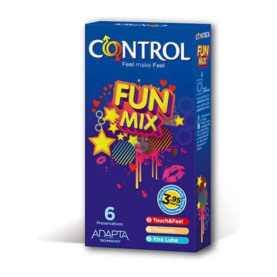 PRESERVATIVOS CONTROL FUN MIX 6UDS - Cosmética Erótica Preservativos Aromáticos-Sex Shop ARTICULOS EROTICOS
