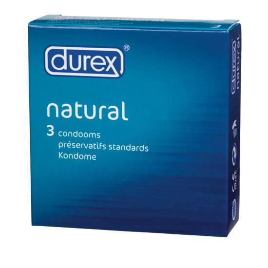 DUREX NATURAL 3 UDS. - Cosmética Erótica Preservativos Natural - Sex Shop ARTICULOS EROTICOS
