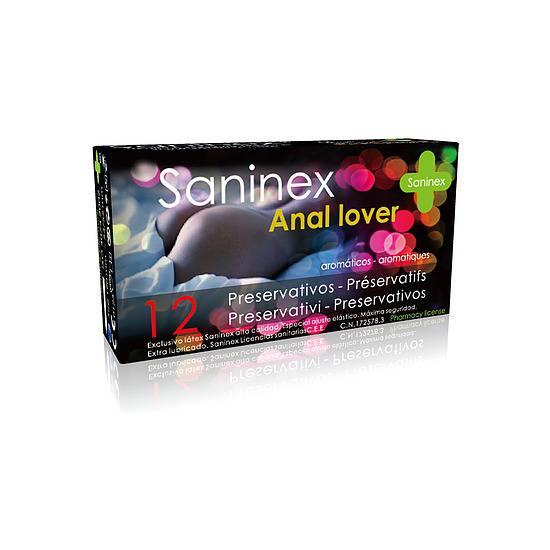 SANINEX PRESERVATIVOS ANAL LOVER 12UDS - Cosmética Erótica Preservativos Aromáticos-Sex Shop ARTICULOS EROTICOS