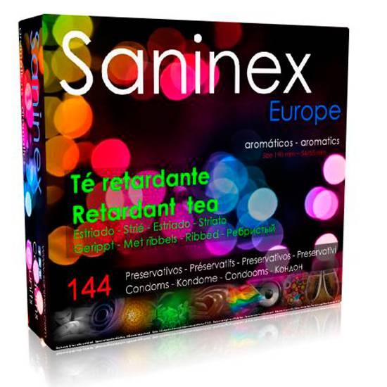 SANINEX PRESERVATIVOS TE RETARDANTE AROMATICO ESTRIADO 144 UDS - Cosmética Erótica Preservativos Aromáticos-Sex Shop ARTICULOS EROTICOS