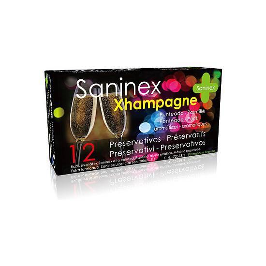 SANINEX PRESERVATIVOS XHAMPAGNE PUNTEADO 12UDS - Cosmética Erótica Preservativos Aromáticos-Sex Shop ARTICULOS EROTICOS