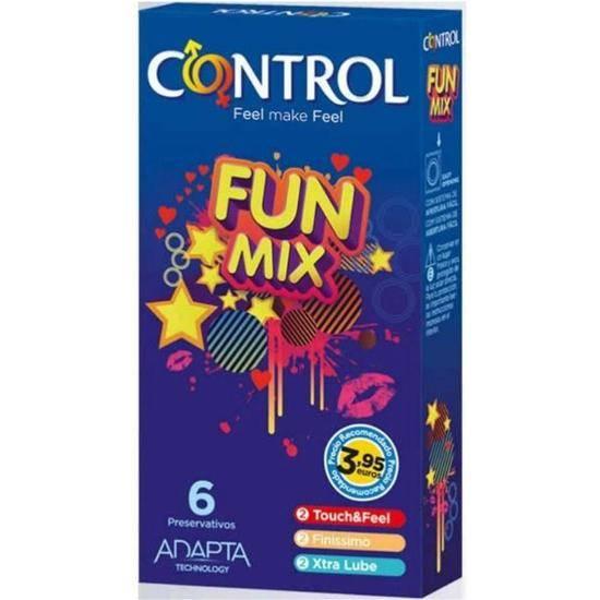 CONTROL PRESERVATIVOS FUN MIX 6 UDS - Cosmética Erótica Preservativos Natural - Sex Shop ARTICULOS EROTICOS