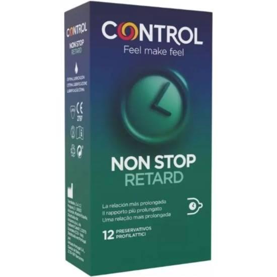 CONTROL PRESERVATIVOS NON STOP RETARD 12UDS - Cosmética Erótica Preservativos Natural - Sex Shop ARTICULOS EROTICOS